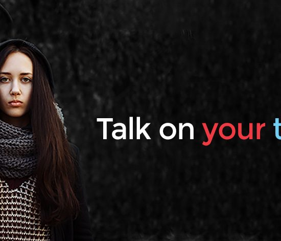 ConnecTeen, talk on your terms. Image of teenage girl looking into the camera