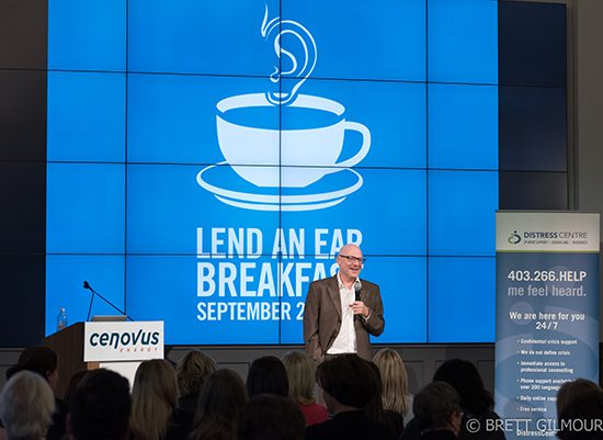 David Granirer, a comedian, counsellor, speaker and author, headlined our Lend An Ear Breakfast.