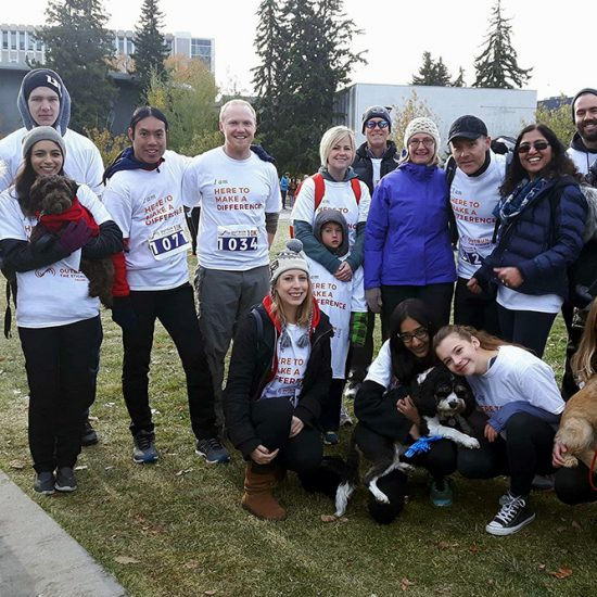 Distress Centre team at the 2017 Outrun the Stigma in Calgary Alberta. A run/walk for mental health.