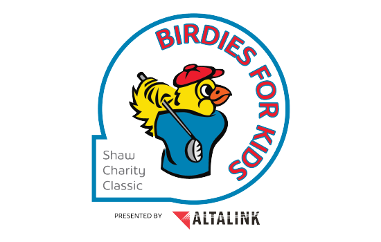 birdies for kids logo shaw charity classic in calgary
