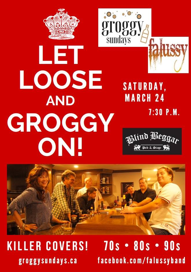 Groggy Sundays and Falussy at the Blind Beggar Pub on Saturday, March 24 at 7:30pm