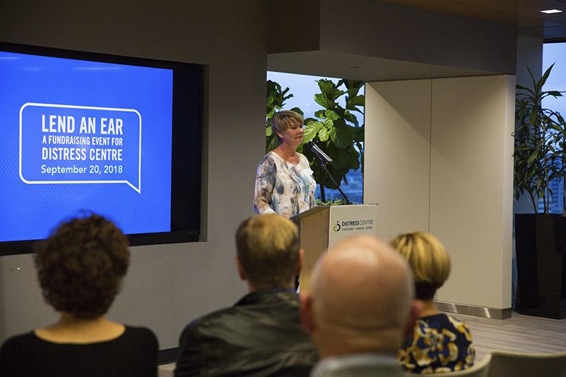 Lee Horbachewski speaking at Lend An Ear 2018