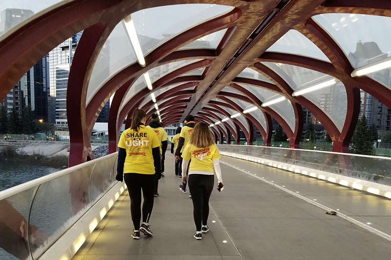 Participants at Darkness Into Light 2018