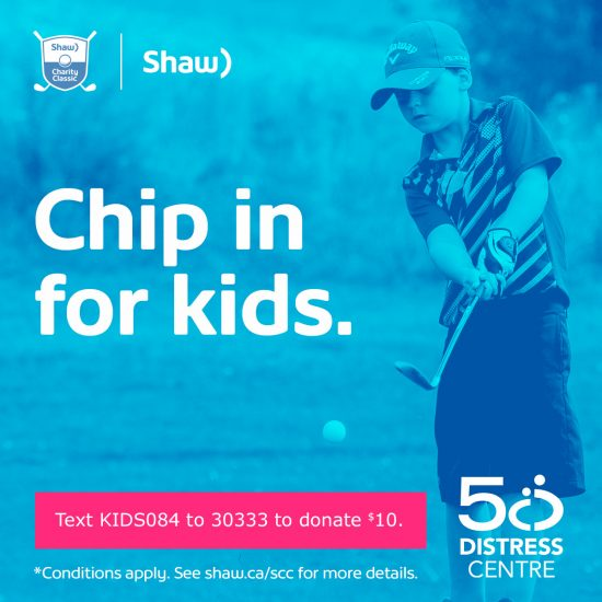 Chip in for Kids through Shaw to donate to Distress Centre