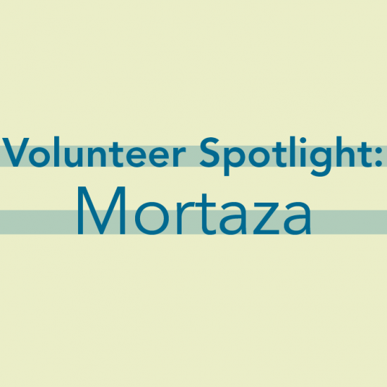 img text: Volunteer Spotlight: Mortaza